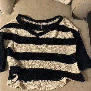 Free People Stripped Sweater Sz L